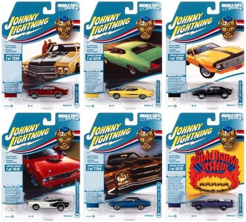 JOHNNY LIGHTNING MUSCLE CARS USA 2021 RELEASE 2 SET A - 1:64 DIECAST