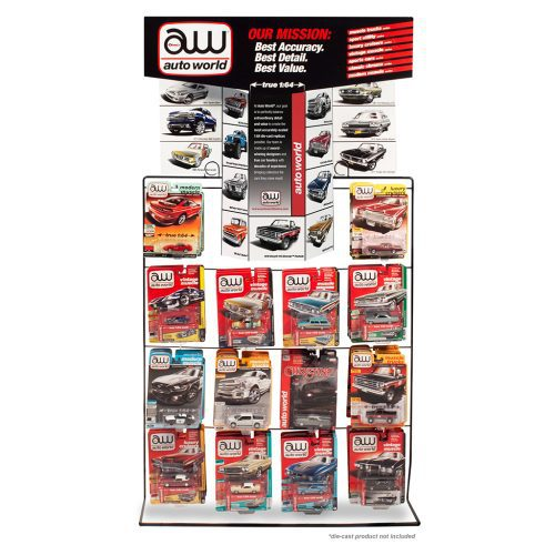 AUTO WORLD COUNTER DISPLAY RACK FOR 1:64 DIECAST (CARS NOT INCLUDED)