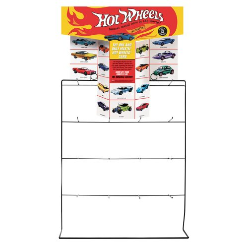 HOT WHEEL COUNTER DISPLAY RACK FOR 1:64 DIECAST (CARS NOT INCLUDED)