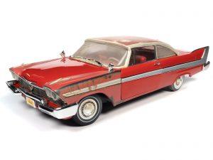 AUTO WORLD CHRISTINE 1958 PLYMOUTH FURY - PARTIALLY RESTORED (CHRISTINE) 1:18 DIECAST