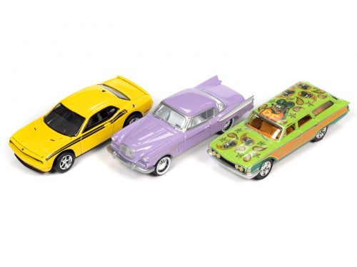 JOHNNY LIGHTNING 1:64 DIE CAST ASSORTMENT WITH COLLECTOR TIN 2021 R1