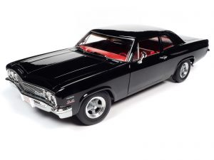 AMERICAN MUSCLE 1966 CHEVROLET BISCAYNE 2-DOOR COUPE (NICKEY) 1:18 SCALE DIECAST