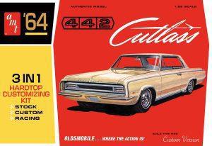 AMT 1964 OLDS CUTLASS 442 HARDTOP 1:25 SCALE MODEL KIT