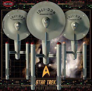 POLAR LIGHTS STAR TREK TOS U.S.S. ENTERPRISE W/PILOT EDITION PARTS 1:350 SCALE MODEL KIT